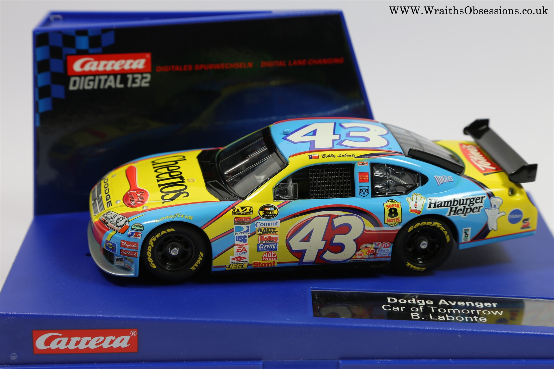 S Carrera Nascar Wraiths Obsession Slot Cars